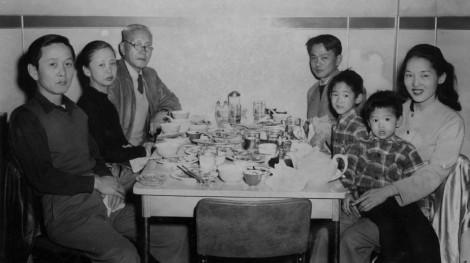 David Hyun's Family in Chinatown, 1948